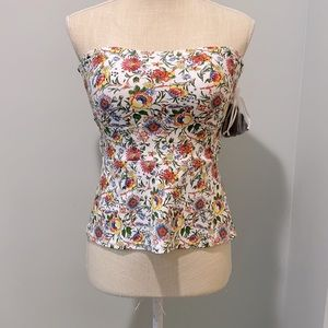 NWT Anne Cole Lace Up Back Floral Tankini